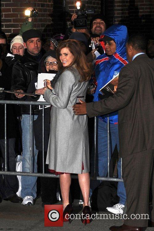 Amy Adams and David Letterman 12