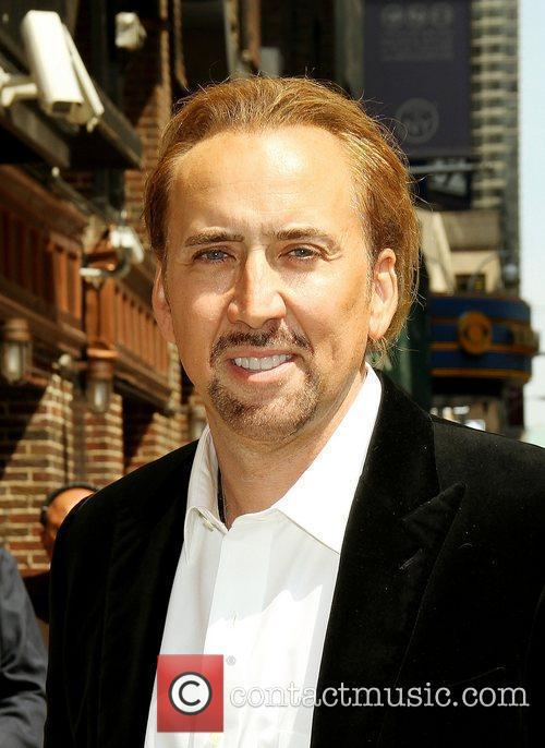 Nicolas Cage, David Letterman, Ed Sullivan Theatre