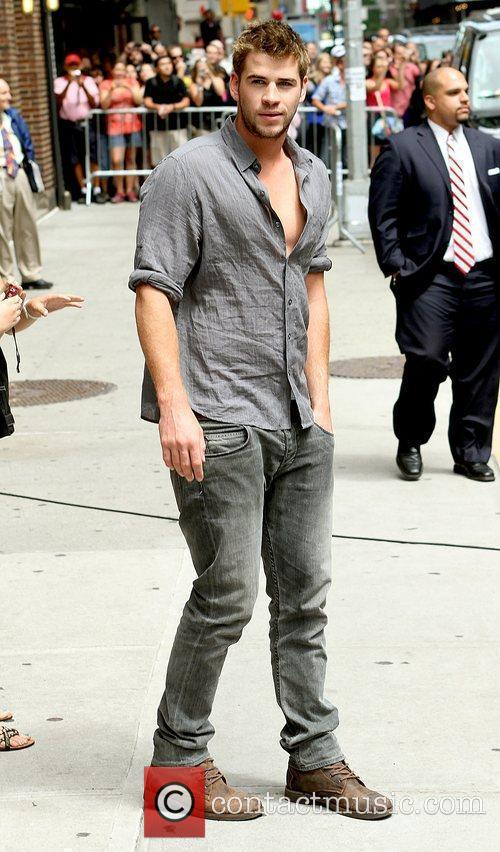 Liam Hemsworth and David Letterman 1