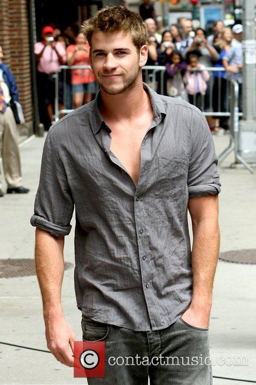 Liam Hemsworth and David Letterman 3
