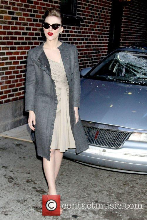 Scarlett Johansson and David Letterman 1