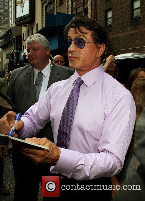 Sylvester Stallone and David Letterman 5