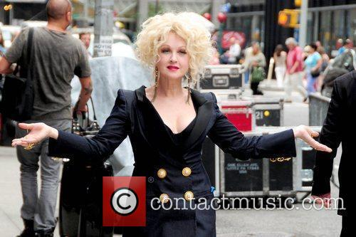 Cyndi Lauper and David Letterman 1