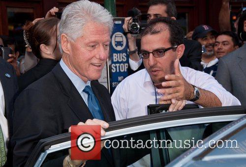 Former U.S. President, Bill Clinton taking a stroll...