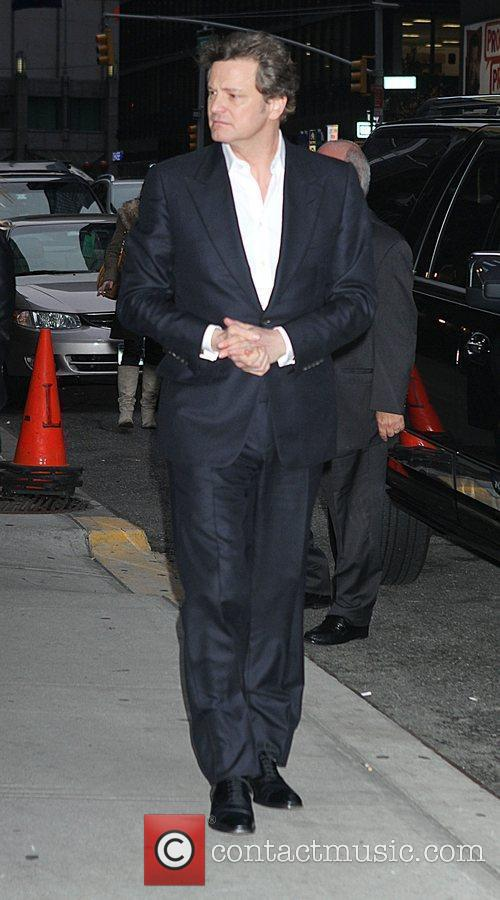 Colin Firth outside The Ed Sullivan Theater for...