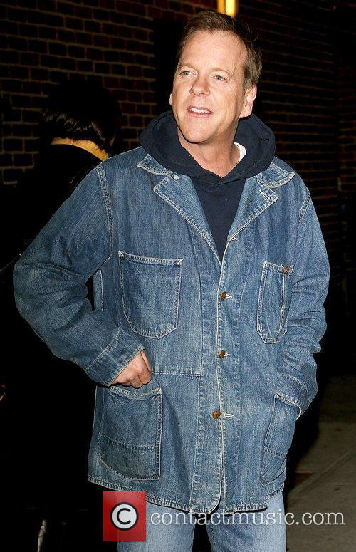 Kiefer Sutherland and David Letterman 24