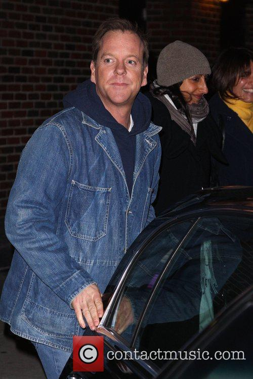 Keifer Sutherland and David Letterman 13
