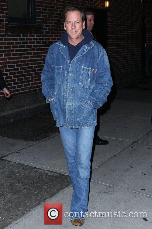 Keifer Sutherland and David Letterman 12
