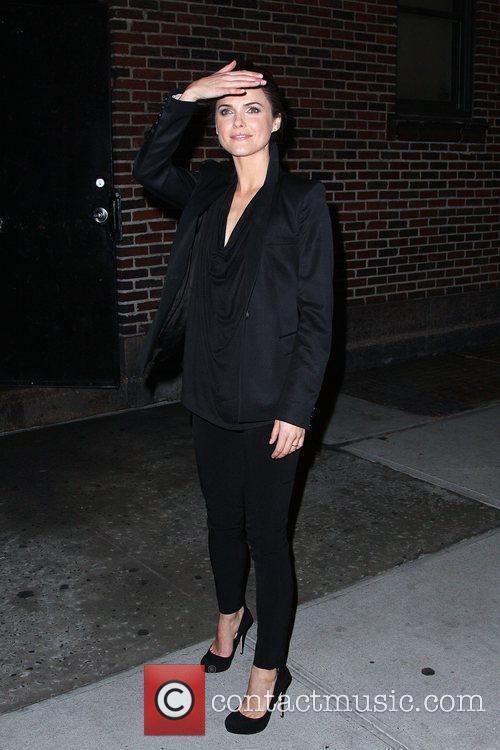 Keri Russell and David Letterman 9