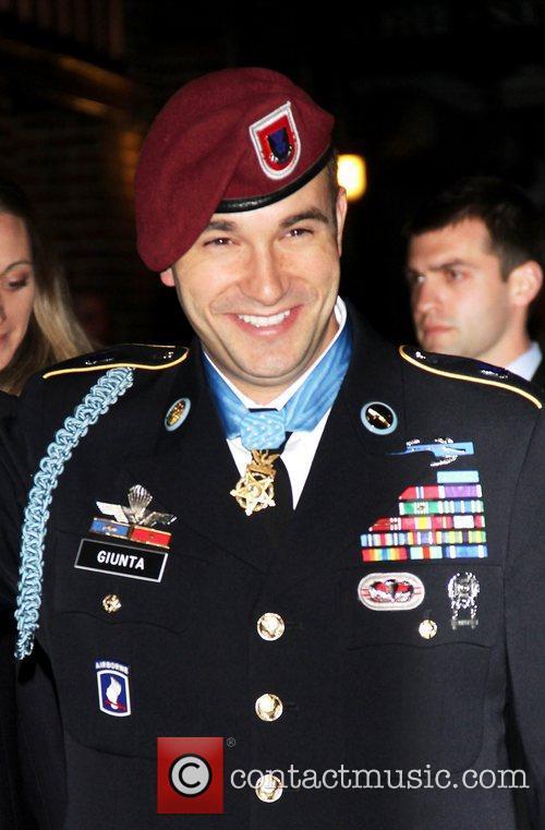 Staff Sgt. Salvatore Guinta outside The Ed Sullivan...