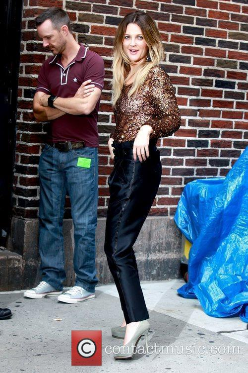 Drew Barrymore and David Letterman 13