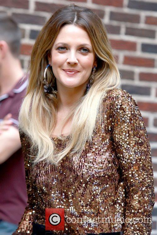 Drew Barrymore and David Letterman 12