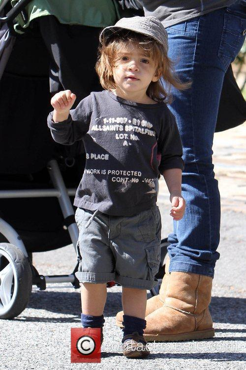 Levi McConaughey enjoys a day outside in Malibu...