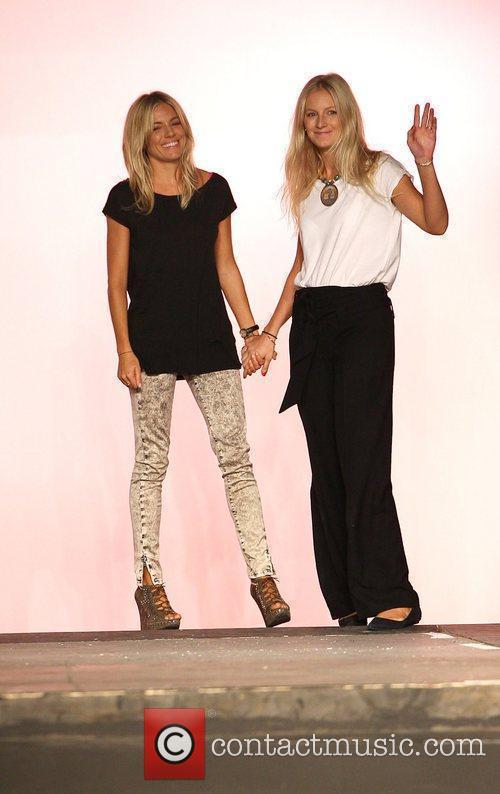 Sienna Miller and Savannah Miller London Fashion Week...