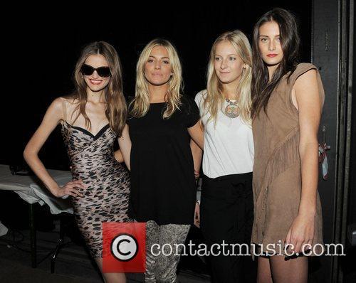 Sienna Miller, Savannah Miller and guests London Fashion...