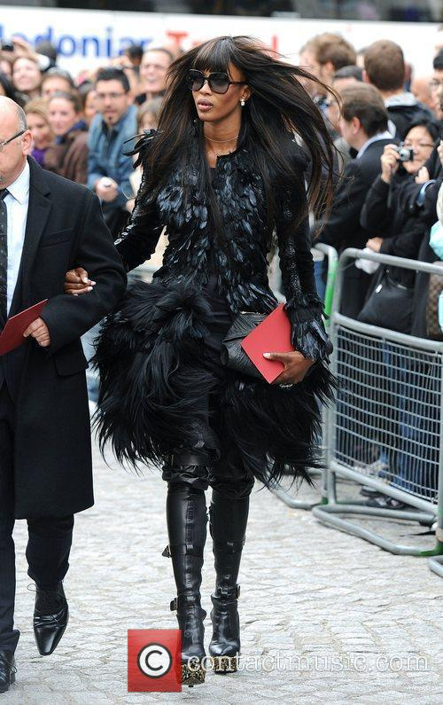 Naomi Campbell London Fashion Week - Alexander McQueen...