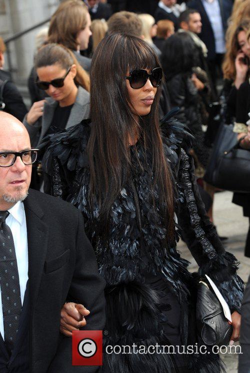 Naomi Cambell London Fashion Week - Alexander McQueen...