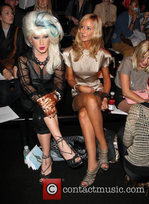 Jodie Harsh and Lady Victoria Hervey London Fashion...