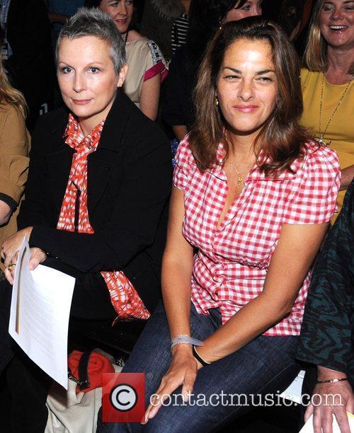 Jennifer Saunders and Tracey Emin London Fashion Week...