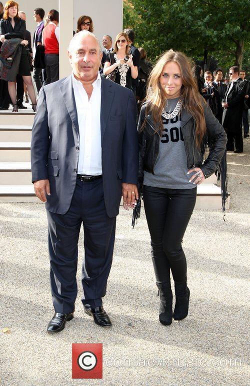 Sir Philip Green and Chloe Green London Fashion...