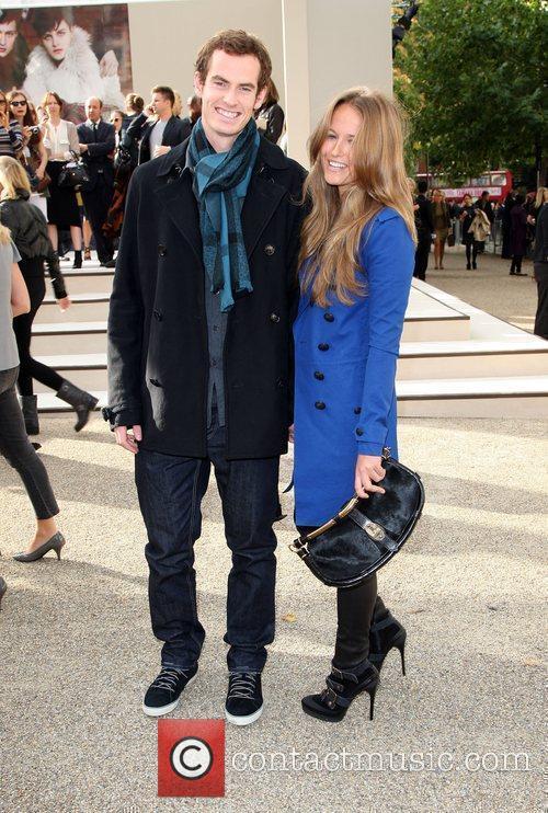 Andy Murray with his girlfriend Kim Sears London...