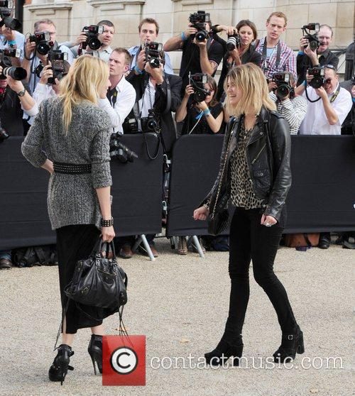 Pixie Geldof and guest London Fashion Week Spring/Summer...