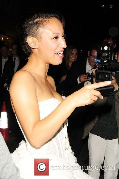 Amelle Berrabah of Sugababes Dolce & Gabbana and...