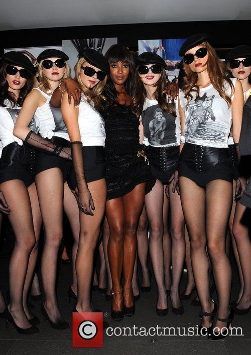 Naomi Campbell and Models London Fashion Week Spring/Summer...