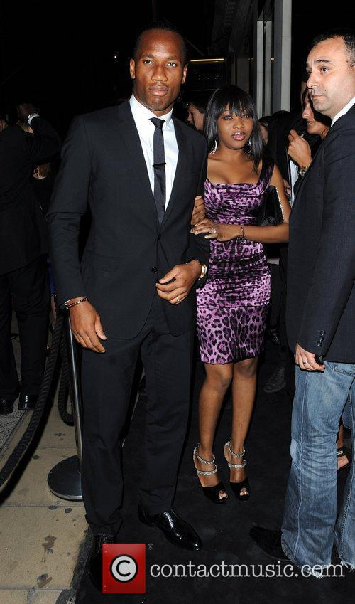 Didier Drogba and wife Dolce & Gabbana party...