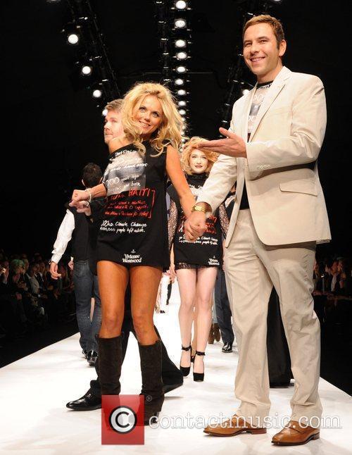 Geri Halliwell and David Walliams London Fashion Week...