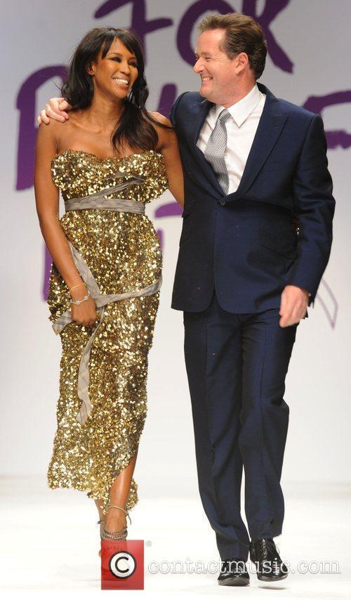Naomi Campbell and Piers Morgan London Fashion Week...