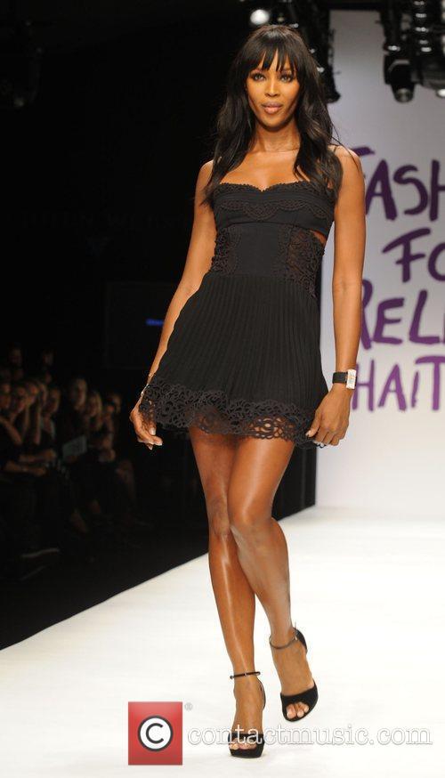 Naomi Campell London Fashion Week 2010 - Fashion...