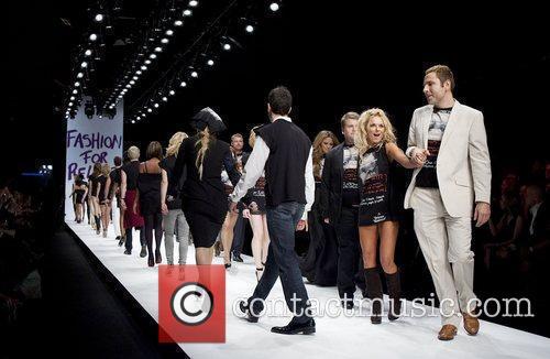 David Walliams and Gerri Halliwell London Fashion Week...
