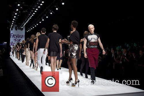 David Walliams and Geri Halliwell  London Fashion...