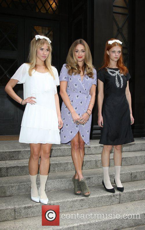 Fearne Cotton with Models London Fashion Week Spring/Summer...