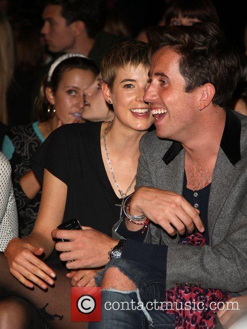 Agyness Deyn and Nick Grimshaw London Fashion Week...