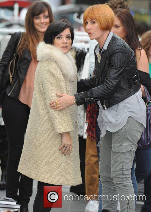 Lily Allen and Mary Portas 1