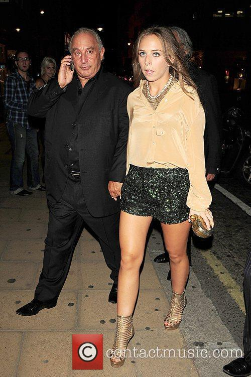 Philip Green and Chloe Green arriving at Kate...
