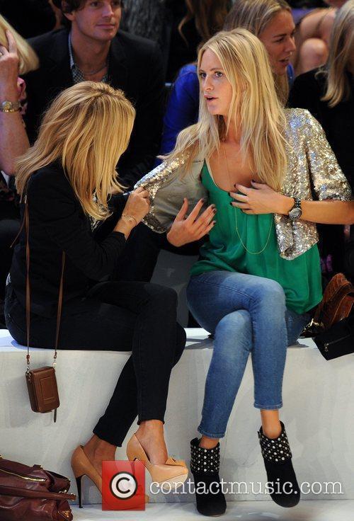 Sienna Miller and Poppy Delevigne London Fashion Week...