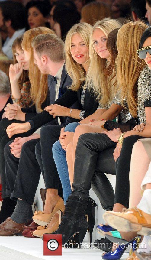 Sienna Miller, Poppy Delevigne London Fashion Week Spring/Summer...