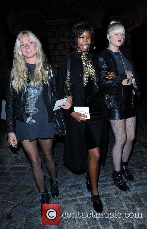 Tolula Adeyemi and guests London Fashion Week Spring/Summer...