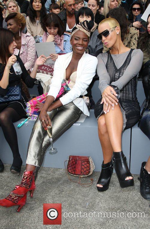 Shingai Shoniwa and Amber Rose London Fashion Week...