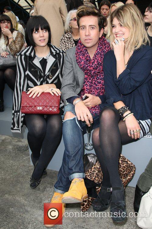 Lily Allen, Nick Grimshaw and Pixie Geldof 3