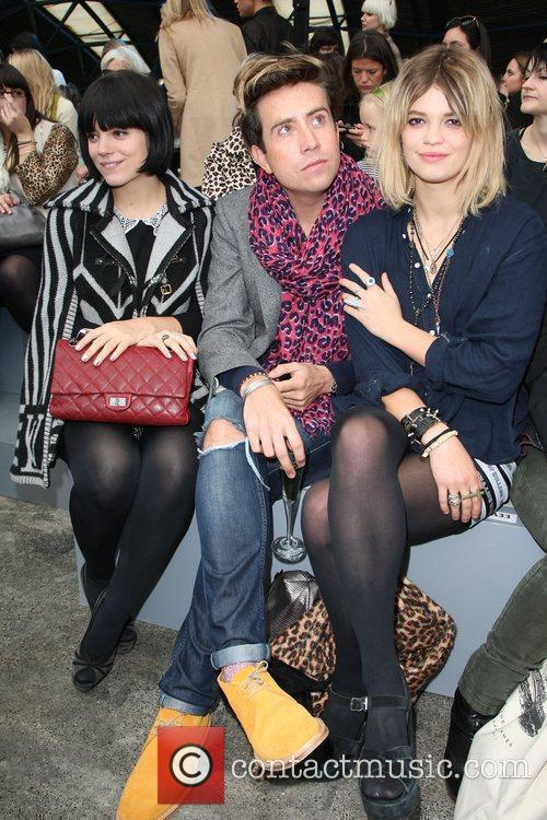 Lily Allen, Nick Grimshaw and Pixie Geldof 4