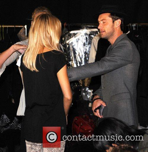 Sienna Miller and Jude Law London Fashion Week...