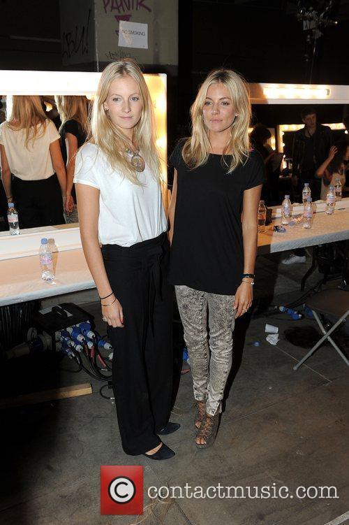 Savannah Miller and Sienna Miller London Fashion Week...