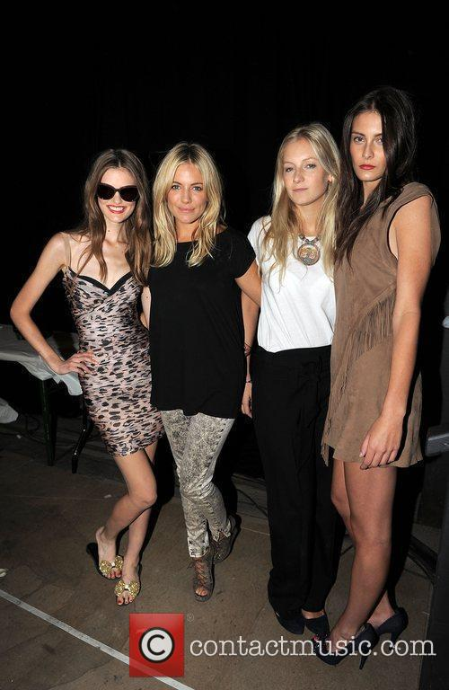 Sienna Miller and Savannah Miller with Models London...