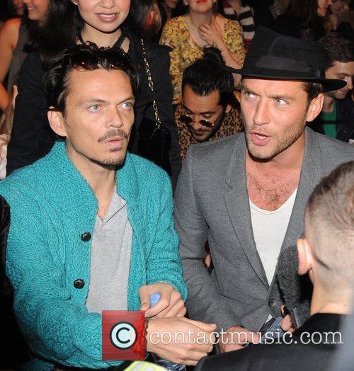 Matthew Williamson and Jude Law London Fashion Week...