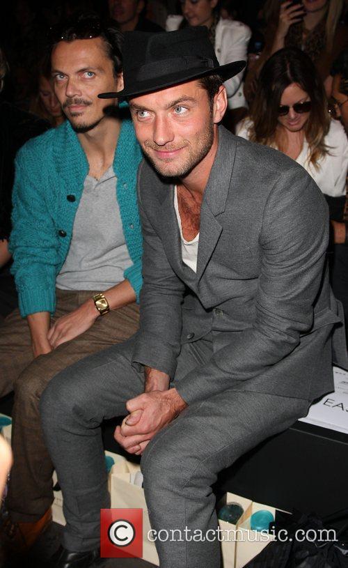 Jude Law and Matthew Williamson London Fashion Week...