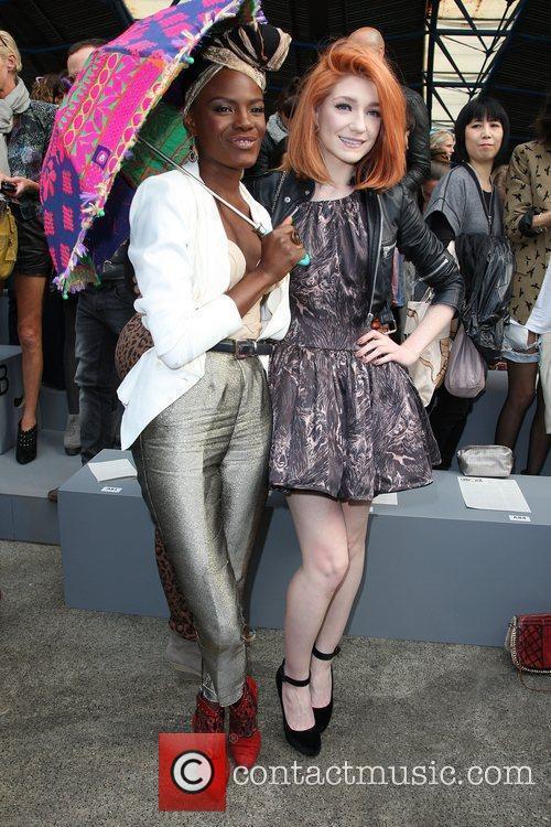 Shingai Shoniwa and Nicola Roberts London Fashion Week...
